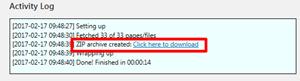 Simply Static生成されたファイルをダウンロードする
