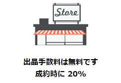 出品手数料20%