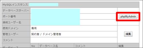 レンタルサーバーiCLUSTAのMySQLデーターベースをphpMyAdminで確認する
