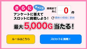 Gポイントアンケートで一攫千金5000円分GET